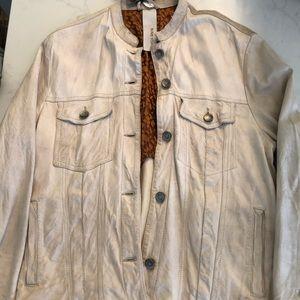 NWT Italian Leather Jacket by Giorgio Brato